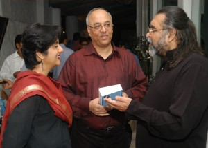 Prahlad with guests